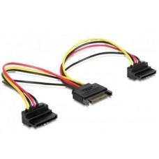 Переходник питания SATA - 2xSATA 0.15m Cablexpert (CC-SATAM2F-02)