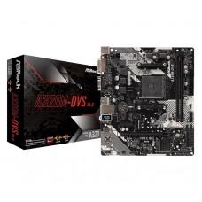 Мат. плата AM4 ASRock A320M-DVS R4.0 mATX 2xDDR4 / PCIE3.0х16 / VGA / DVI