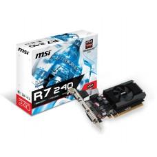 Відеокарта PCI-E Radeon R7 240 MSI 2 ГБ (R7 240 2GD3 64B LP) / DDR3 / 64Bit / 600/1600MHz / DVI / HDMI / VGA