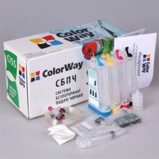 Система НПЧ ColorWay Epson T26/27/TX1xx /C91/CX4300 (T26CC-0.0) +чернила 4 х 100 мл