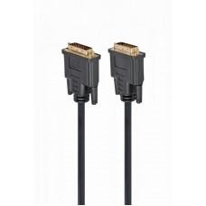 Кабель DVI24+1 папа/папа 3.0м Cablexpert Dual Link (CC-DVI2-BK-10)