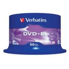 Диск DVD+R Verbatim 4.7 GB, 16x CakeBox 50 шт (43550)