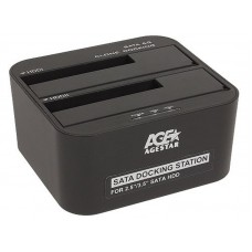 Док-станция HDD 2.5/3.5' Agestar 3UBT6-6G USB3.0 2 слота, черная
