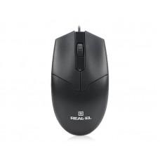 Мишка REAL-EL RM-208 USB Black (EL123200030)
