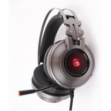 Гарнітура A4-Tech G525 Bloody (Gray) USB ігрова 7.1 віртуальний звук, RGB підсвічування