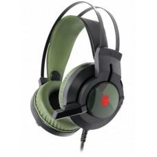 Гарнітура A4-Tech J437 Bloody (Army Green) USB ігрова неонове підсвічування 7кольорів