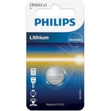 Батарейка CR1632 PHILIPS літієва (CR1632/00B) 1шт