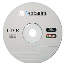 Диск CD-R Verbatim 700 Mb, 52x Wrap-box Extra 1шт (43787-1)