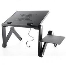 Подставка для ноутбука UFT FreeTable-2 420 х 275 мм, 520 х 275 х 50 мм, 1.7 кг, черная, 1 вентилятор