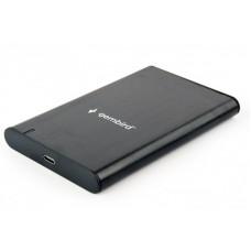 """Зовнішня кишеня для HDD SATA 2.5"""" Gembird EE2-U3S-6 USB3.1, чорний, алюміній Інтерфейс USB type-C (мама), Superspeed USB 3.1 Gen.1 (сумісний з USB 3.0/2.0/1.1)"""