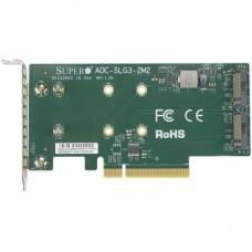 Контролер PCI Express x8 для SSD 2x M.2 NVMe Supermicro (AOC-SLG3-2M2)