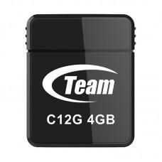 Флеш USB2.0  4ГБ Team C12G Black (TC12G4GB01), 10МБ/с, 20МБ/с
